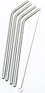 4 Bend Stainless Steel Straws for Rocky Mountain 30 Ounce Double-Wall Tumbler Vacuum Cup - CocoStraw Brand Drinking Straw TV (4 Bend Straws)