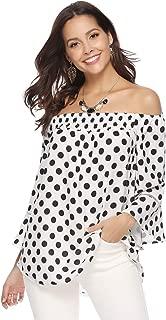 Off Shoulder Tops for Women 3/4 Sleeve Elegant Shirts Blouses