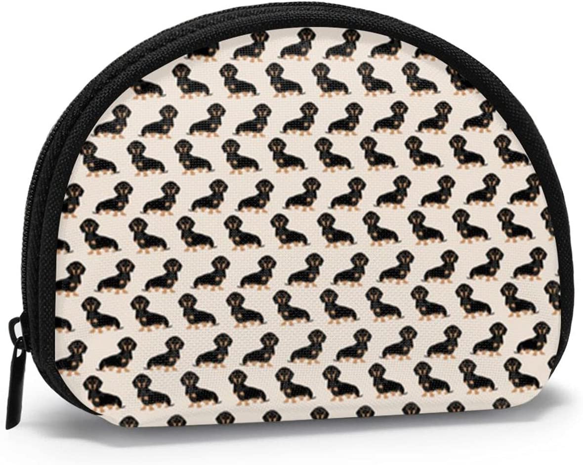 Women Change Coin Purse Cute Dachshund Shell 35% OFF Bargain Gift B Storage Girl