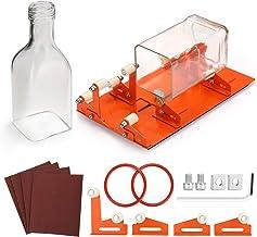 Glas-Flaschenschneider DIY Wein Bier Glaswaren Schneidwerkzeuge Maschine Edelstahl Verstellbar Flaschenschneider Bier Weinflaschen Schneidset Set mit Glasschneider