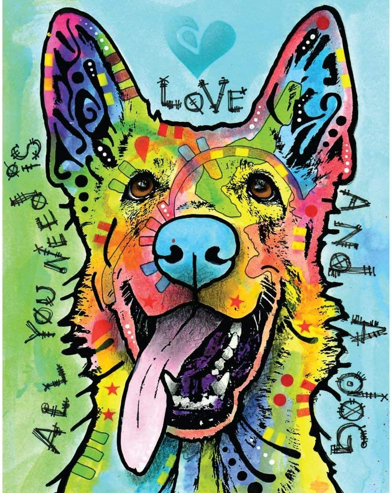MyWonderfulWalls German Today's only Shepherd Pop Art Decal by and Love Free shipping on posting reviews Dog a