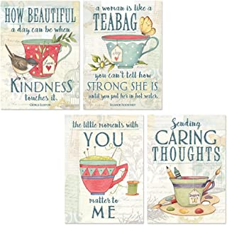 Tea Time Friendship Greeting Cards - Set of 8 (2 of each)