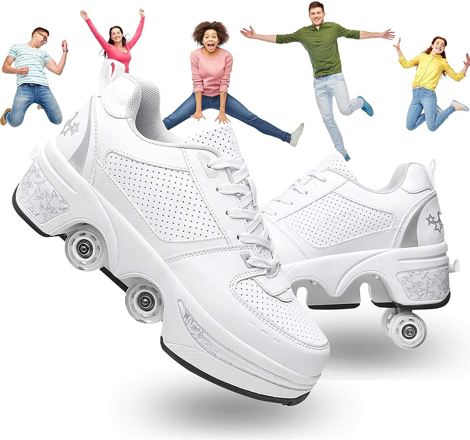 2021 spring and summer Now on sale new Mlyzhe Rollerskate Shoes Parkour Skates Retractable Dual Casual