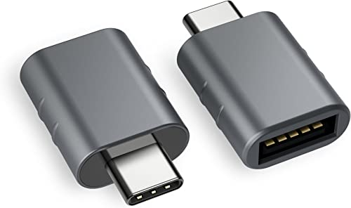 Syntech USB C to USB Adapter (2 Pack), Thunderbolt 3 to USB 3.0 Adapter Compatible with MacBook Pro 2019 and Before, ...