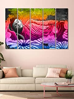 999Store home accessories for living room framed wall paintings for home decoration Meditating Buddha and flowers wall art...