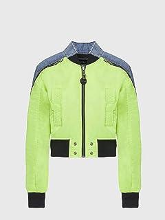 (ディーゼル) DIESEL レディース ジャケット デニムミックスナイロンボンバージャケット A000410PAZK