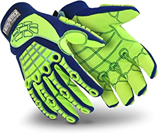 HexArmor Chrome Series 4027 Cut Resistant Safety Work Gloves with Impact Protection, Medium