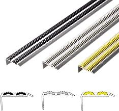 Aluminium traprandprofiel Power Grip   antislip dubbele rubberen inleg   onzichtbare montage: zelfklevend/voorgeboord   tr...