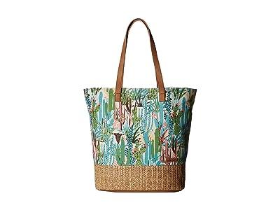 Sakroots Artist Circle Horizon Tote (Natural Mojave Mirage) Tote Handbags