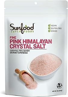 Sunfood Salt, Himalayan Pink, Fine, 1 Pound