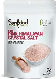 Sunfood, Fine Pink Himalayan Crystal Salt, 1 Lb (454 G)