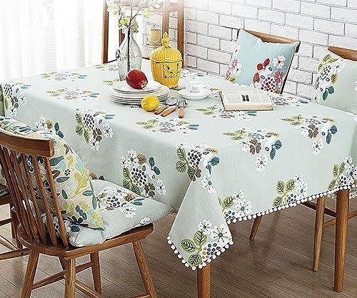 Küchenwäsche Tischdecke Rectangle Printing ländlichees Leinen Waschbares Gourmet Dinner Picknick Tischdecke
