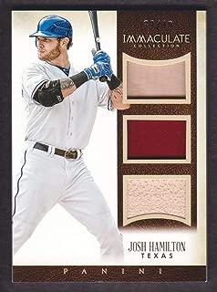 2014 Immaculate Collection Baseball Trios Memorabilia #1 Josh Hamilton Bat Jersey 33/49 Rangers