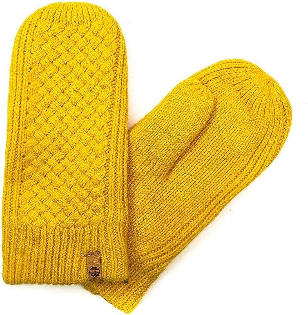Timberland Womens/Ladies Sea Street Waffle Mittens (One Size) (Mustard Yellow)