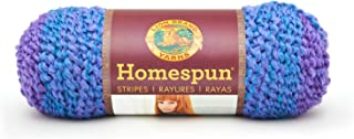 Lion Brand Yarn 790-226 98 Percent Acrylic/2 Percent Other Fibre Homespun Yarn, Petunia Stripes