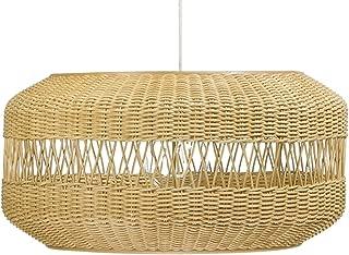 KOUBOO 1050074 Open Weave Candy Wicker Pendant Lamp, 19.25