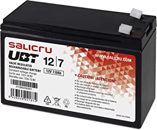 Salicru 013BS000001 - Baterías para sistemas ups, Sealed Lead Acid (VRLA), 7 Ah, 12 V, Color Negro