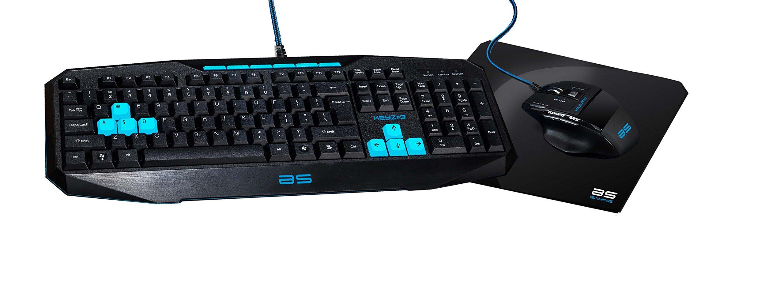 Bluestork 4160021877 - Pack Gaming SP Teclado con ratón y Alfombrilla, Multicolor: Amazon.es: Informática