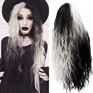 Mildiso Ombre Wig Long Curly Wigs for Women Stylish Party Cosplay Wigs Synthetic Heat Resistant 32