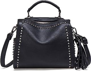 JOSEKO Damen Niet Umhängetasche Kleine, High-Fashion PU Leder Handtaschen Damen Handy Schultertasche Coole Mädchentasche g...