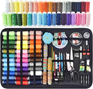 206 Pcs Premium Sewing Kit for Adults Needle and Thread Kit 41 Spools of Thread Oxford Fabric Case Portable Basic Sewing R...