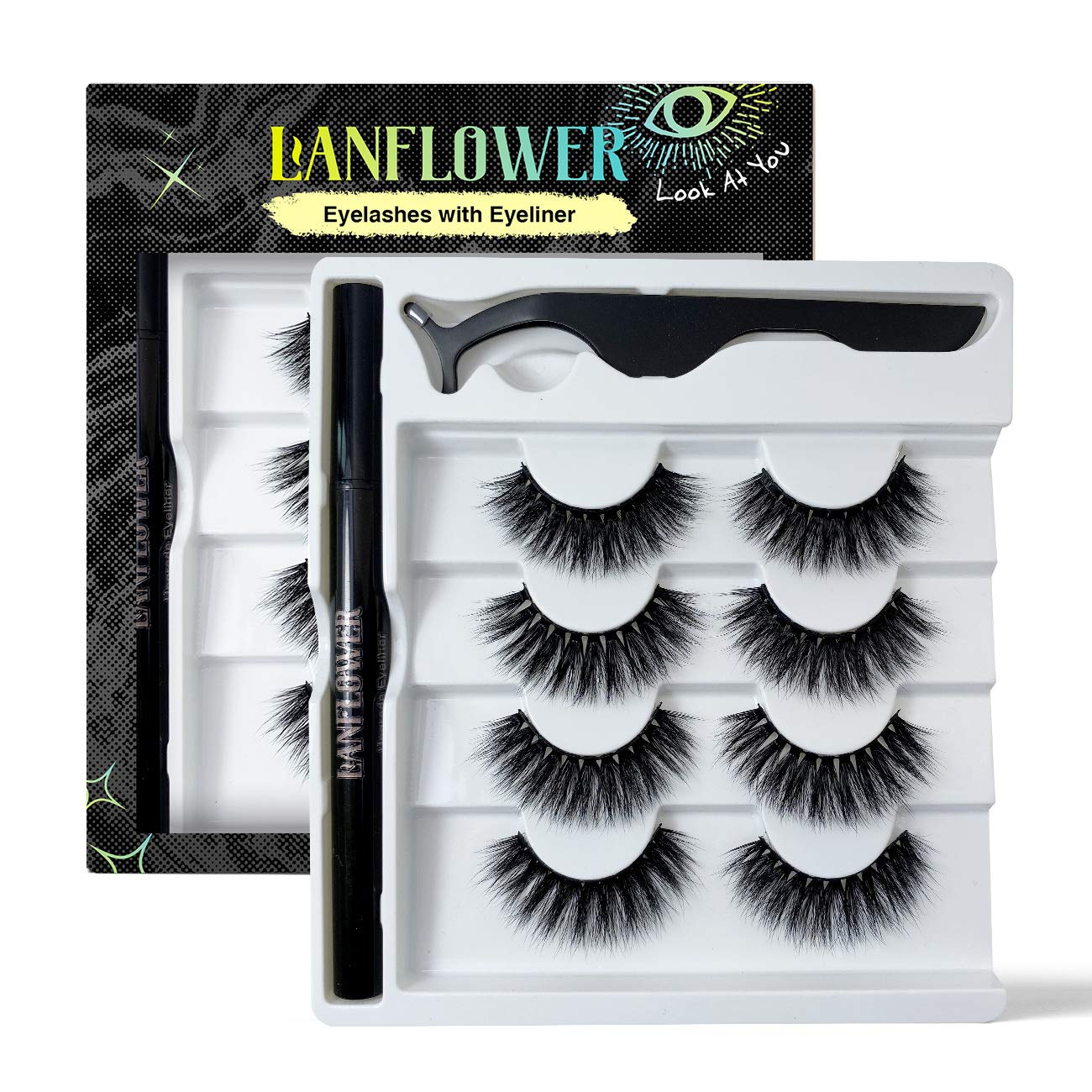 Faux Mink Lashes with Max 59% OFF of Eyeliner Indefinitely Magnetic Replacement