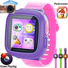 GBD Kids Game Watch, [AR Pro Edition] Boys and Girls Touch Screen Smart Watches with Games Pedometer Camera Alarm Clock Stop Watch Wrist Band Kids Electronic Learning Toys School Birthday Gifts (Pink)