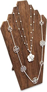 Lightweight Wooden Jewelry Necklace Display Bust Easel For 3 Necklaces
