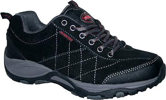 Ladies Northwest Deline Grey//Pink Leather//Mesh Waterproof Trainers