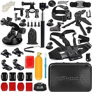 D&F Kit de Accesorios para cámara de Deportes al Aire Libre para Gopro Hero / 6/5/4 / Hero (2018) SJCAM YI Crosstour AKASO Campark Sony Sports DV y Otras cámaras de acción