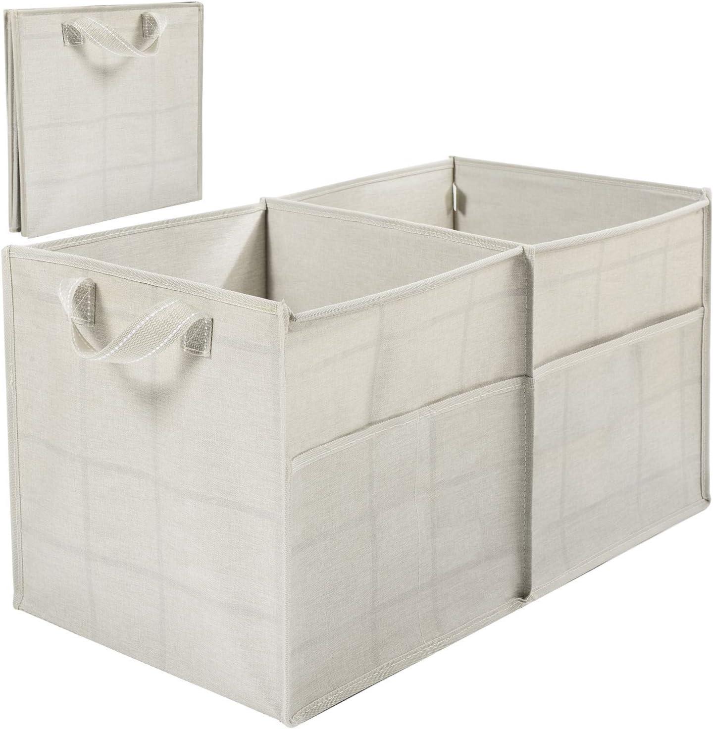 Veno Faltbarer Kofferraum Organizer Erweiterbarer Großer Kapazität Tragbarer Kofferraum Organizer Mit Tragegurt Beige Fensterscheibe Baumarkt