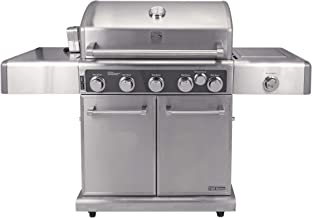 Kenmore Elite PG-40506SRLC-AM Stainless Steel 5 Outdoor Patio Gas BBQ Propane Grill Includes Side Searing Burner and Rotisserie
