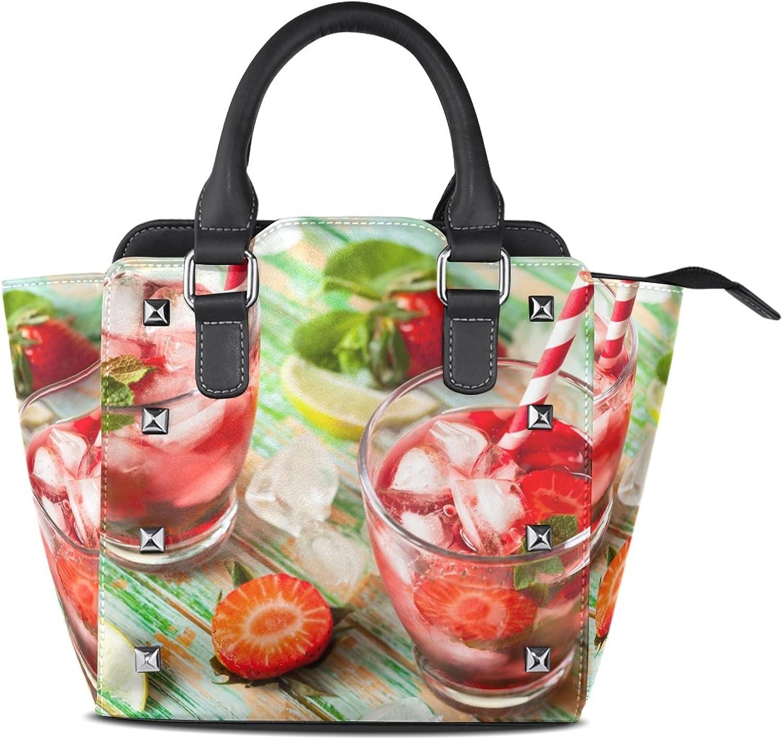 My Little Nest Women's Top Handle Satchel Handbag Summer Drink Ladies PU Leather Shoulder Bag Crossbody Bag