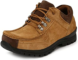 KNOOS Men's Tan Leather Casual Boots