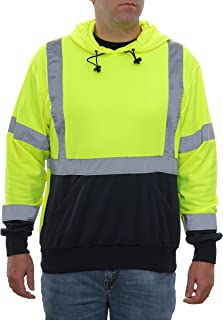 Unisexe Hi Viz Vis Polaire Zippée à Capuche Sweat-shirt Sécurité Veste Workwear Top 8-18