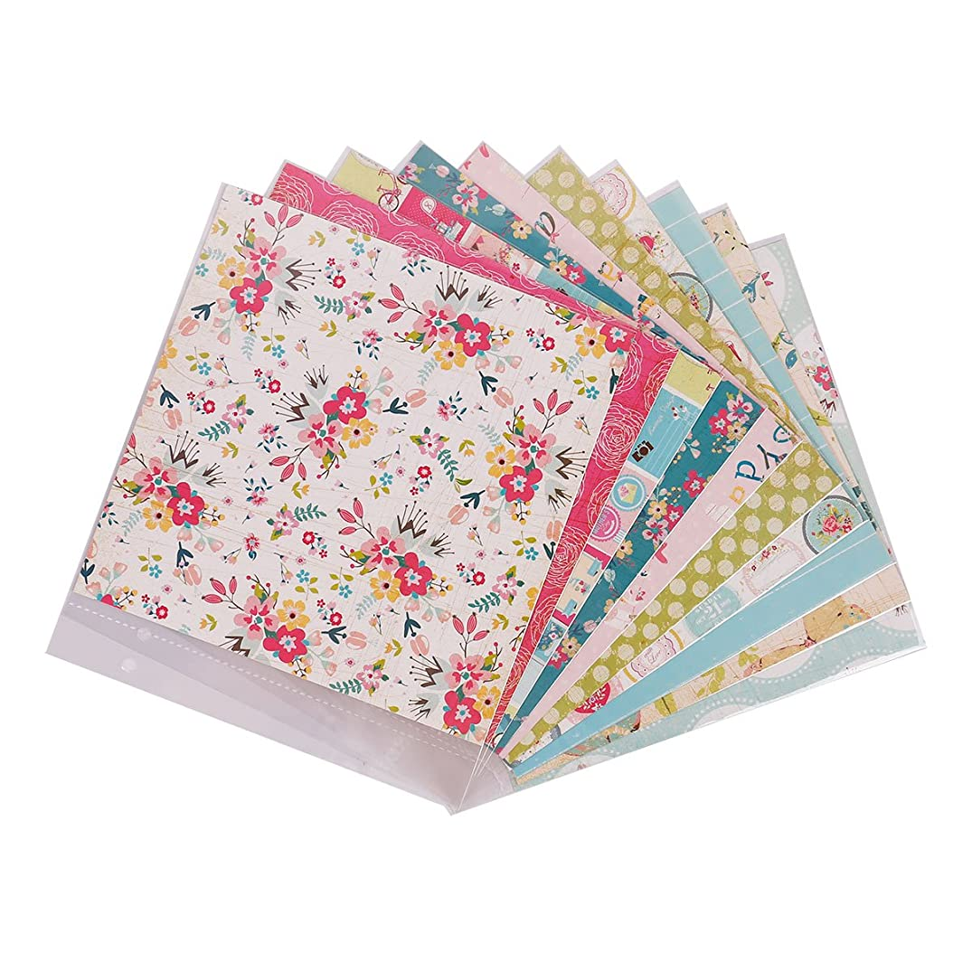 FaCraft 8x8 Scrapbook Refill Pages and Paper Protecter Sheets