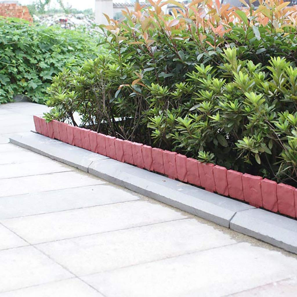 QBZS-YJ Valla 80PCS Jardín Edge Cercos DIY Flor Decorativa Marco de la Cama Planta de Borde Decorativo del Paisaje del jardín de embellecimiento de aceras: Amazon.es: Hogar