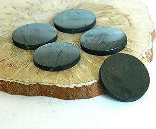 5 pcs Shungite polished circle plates for mobile phones, EMF protection