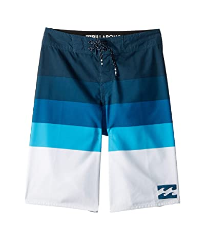 Billabong Kids Midway Stripe Boardshorts (Big Kids) (Blue) Boy