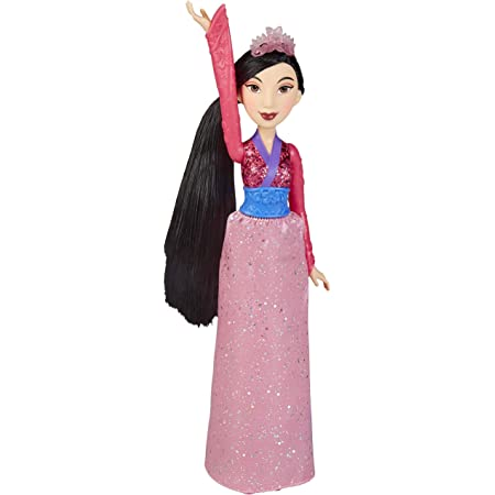 Disney Princess Mulan Royal Shimmer Fashion Doll with Skirt that Sparkles, Tiara and Shoes, Toy for Girls 3 Years and Up