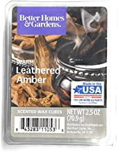 Better Homes & Gardens Scented Wax Cubes, 2.5 oz (Warm Leathered Amber, 2.5 Oz)