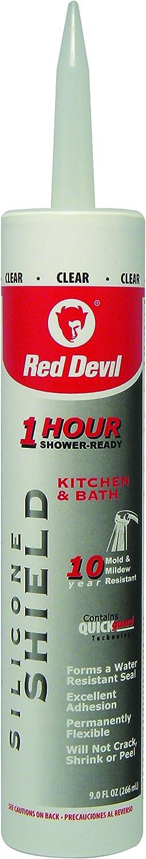 Red Devil 0826KB latest Silicone Shield Oz Bath Kitchen Chicago Mall 9.0 Sealant