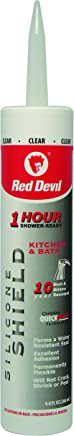 Red Devil 0826KB Silicone Shield One Hour Shower, 9-Ounce, Clear