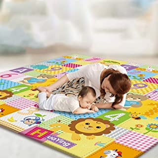 Play Mat, 200 * 180 CM Playmat, Baby Play Mat for Floor Play, Extra Thick Kids Crawling Mat, Water Proof and Reversible La...