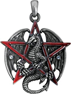 dragon pentagram necklace