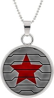 Winter Soldier Logo Necklace Pendant Marvel Comics 2018 Movies Cartoon Superhero Theme Bucky Barnes Premium Quality Detailed Cosplay Jewelry Gift Series