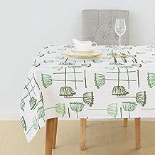 Deconovo Mantel de Mesa Rectangular Tela Oxford para Cocina Comedor Salón Restaurante 137 x 274 cm Verde