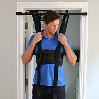 Sit and Decompress – Inversion Table Alternative - The Ultimate Back Stretcher - 3 Minutes a Day. Increase Disc Space by 50% Instantly While in Use. Version 4(Small Harness Only)