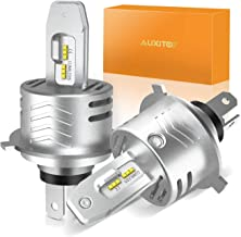 H4 LED Headlight Bulbs Conversion Kit AUXITO H4 9003 Replacement Lamps 6000K Xenon White 12000lm Extremely Bright All-in-One 1:1 Design, Pack of 2