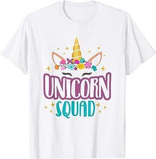 Unicorn Squad Unicorns Girls Birthday Party Matching Gift T-Shirt